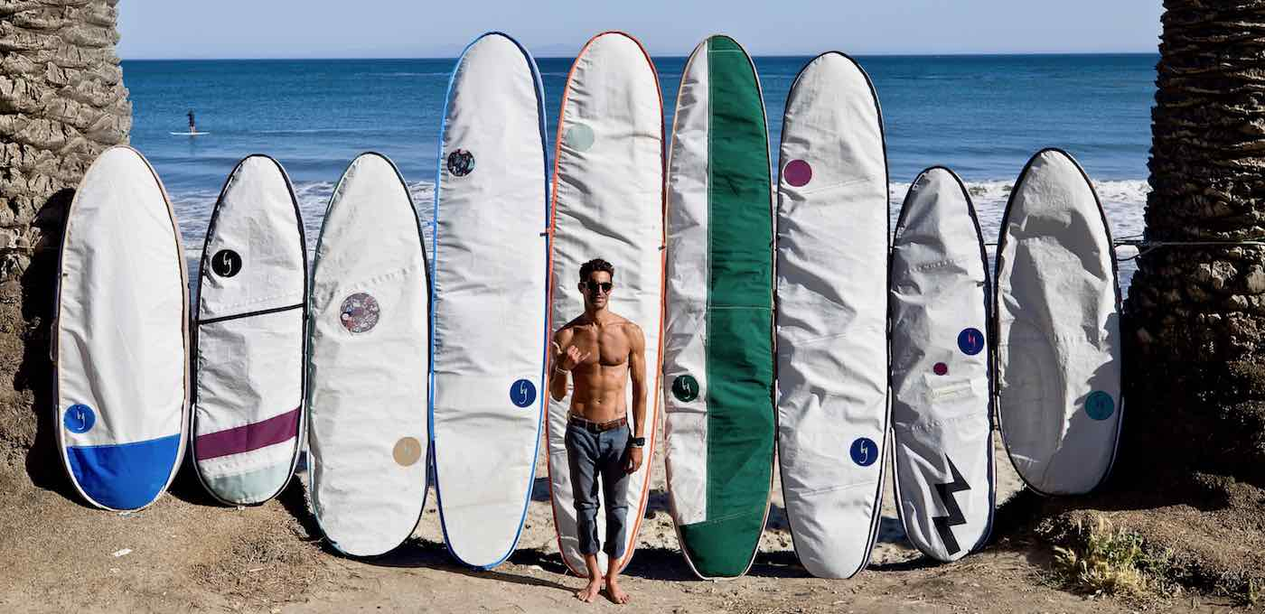Surfer Taps Love Of Sailing To Design Surfboard Bags Hand Sewn From