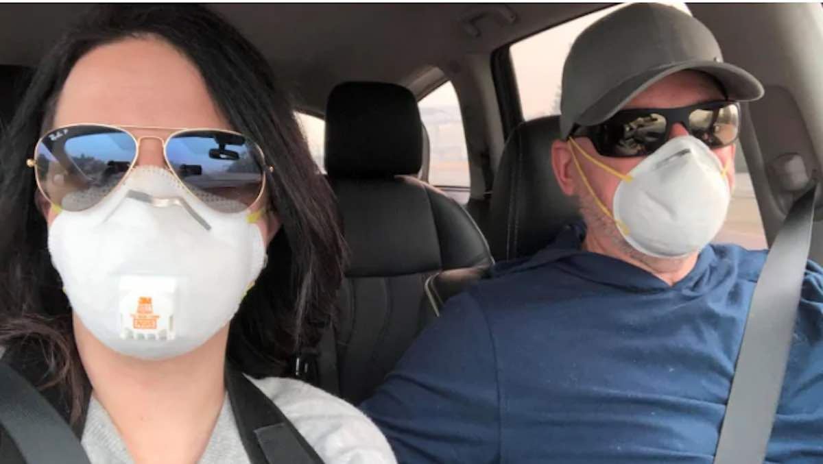 Instead of Canceling Flights, Canadian Couple Spends Vacation Helping California Wildfire Victims