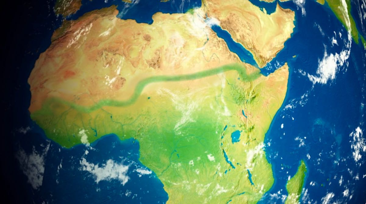 Map Of Africa From Space.Dozens Of Countries Have Been Working To Plant Great Green Wall