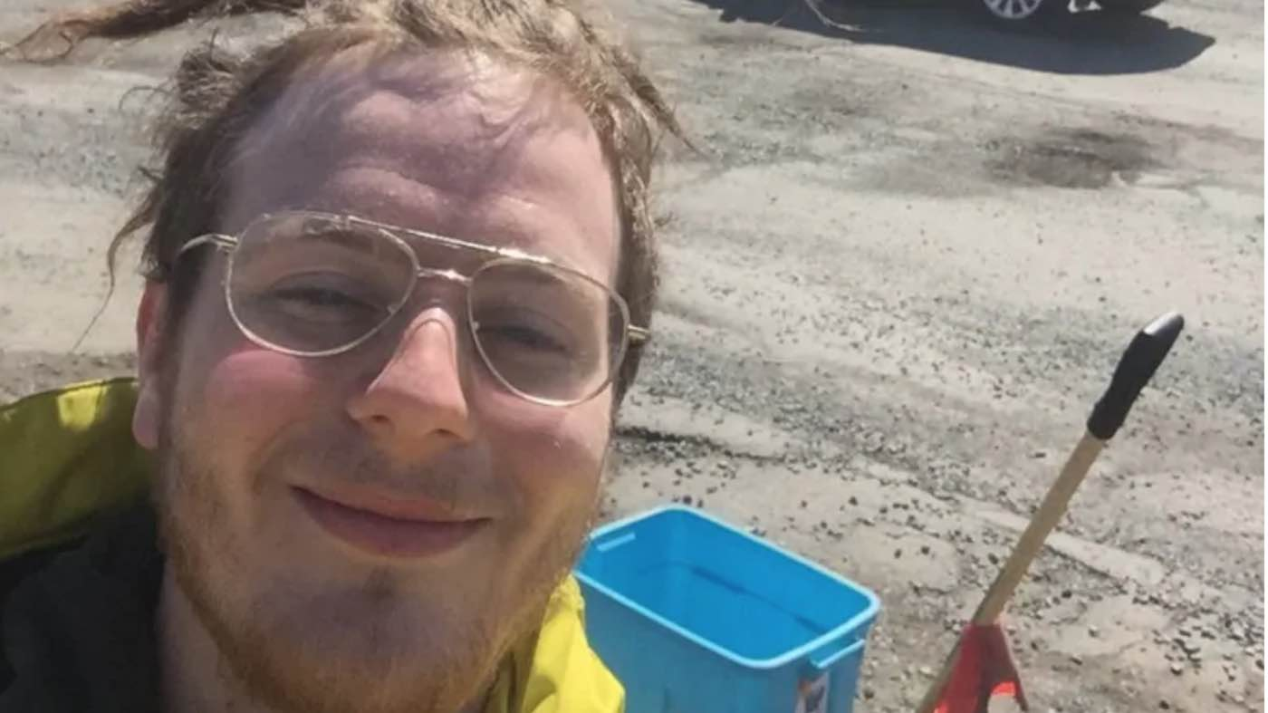 Image result for Canadian Man Fills Potholes and Gets Weed, Coffee, Cash From Grateful Locals