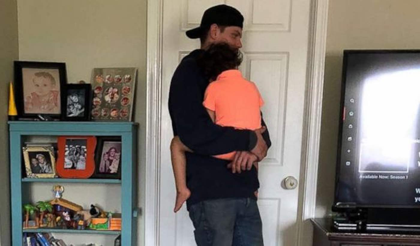Mom Snaps Viral Picture of a Cable Technician Comforting Her Disabled Son While He Fixes the Internet