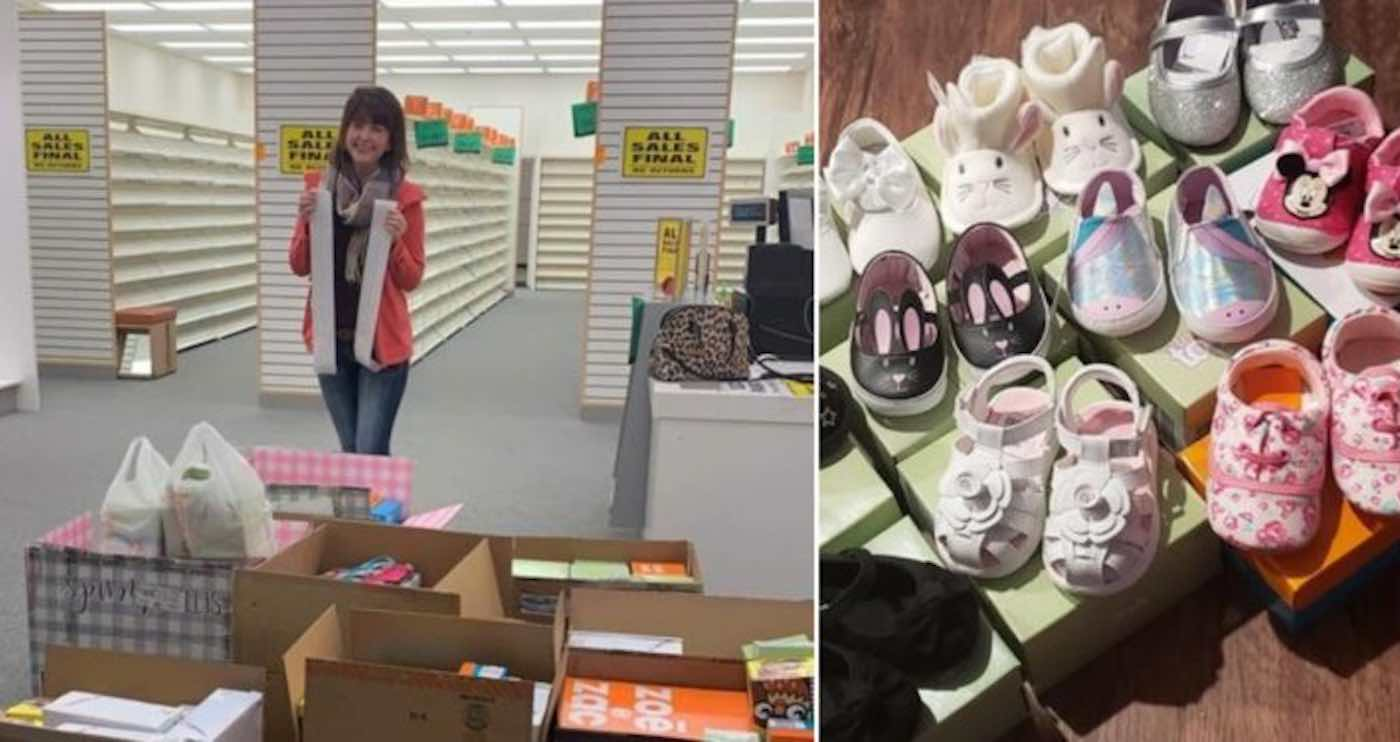 Image result for Woman Buys Out Entire Shoe Store So She Can Donate 204 Pairs to Nebraska Flood Victims