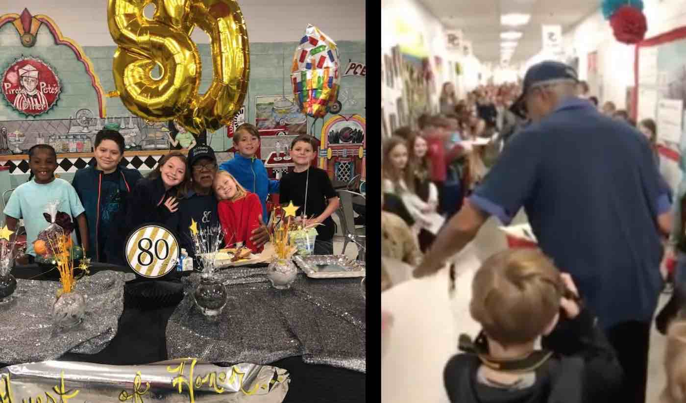 Watch 800 Elementary School Students Stage Big Surprise for