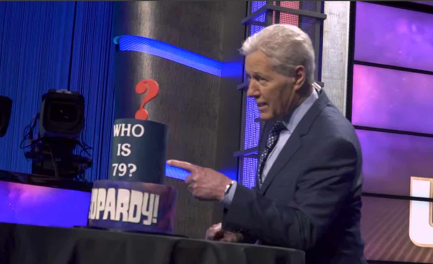Alex Trebek, saying he's on the mend, is back at 'Jeopardy!'