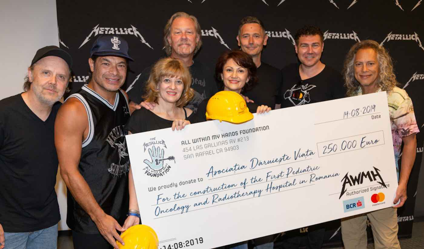 Metallica Donates a Quarter-Million Dollars to Help Build First Children's Hospital of Its Kind in Romania