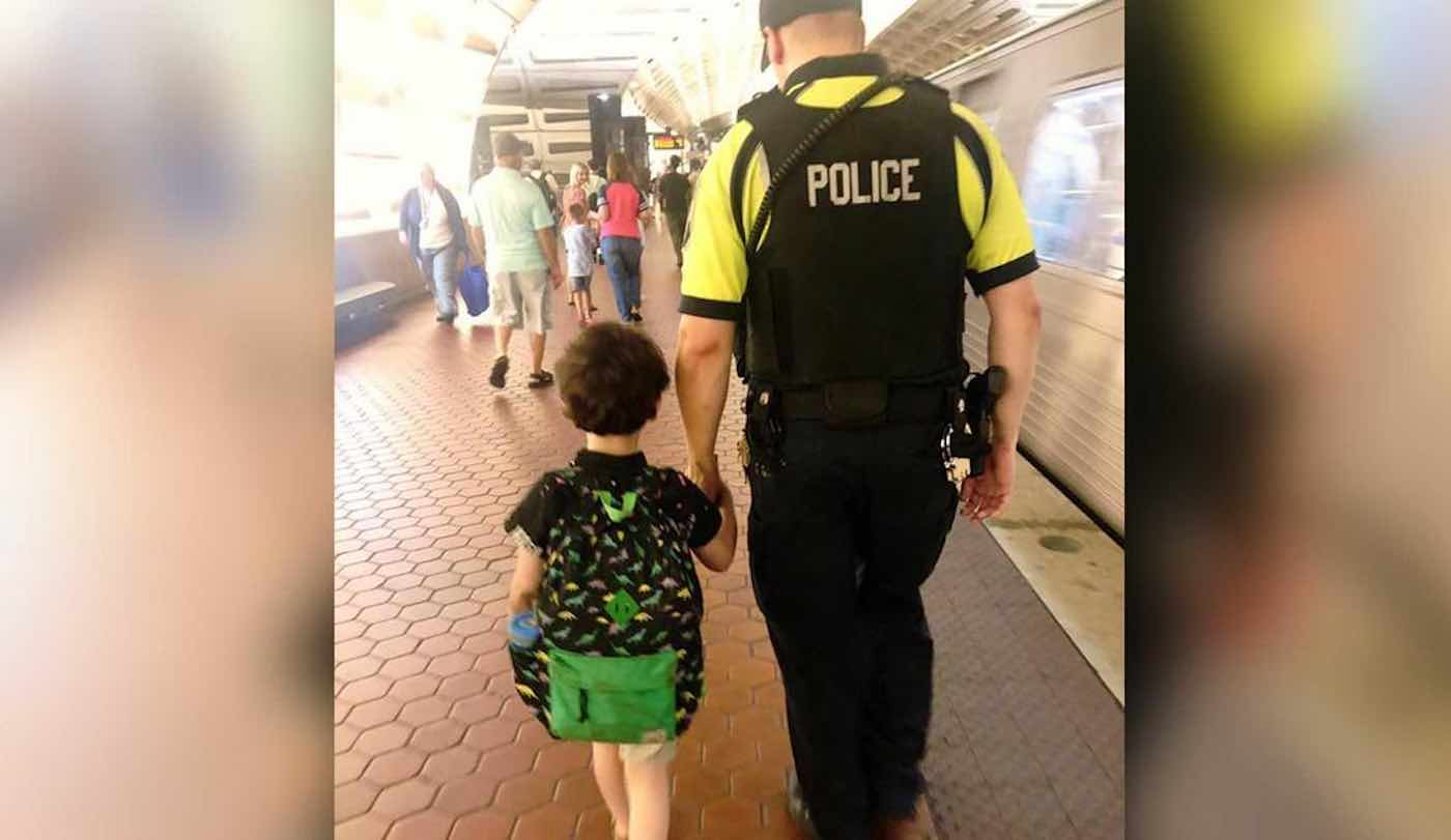 Subway Officer Spent 30 Minutes Calming Boy With Autism Having a Meltdown—and They're Now Best Friends