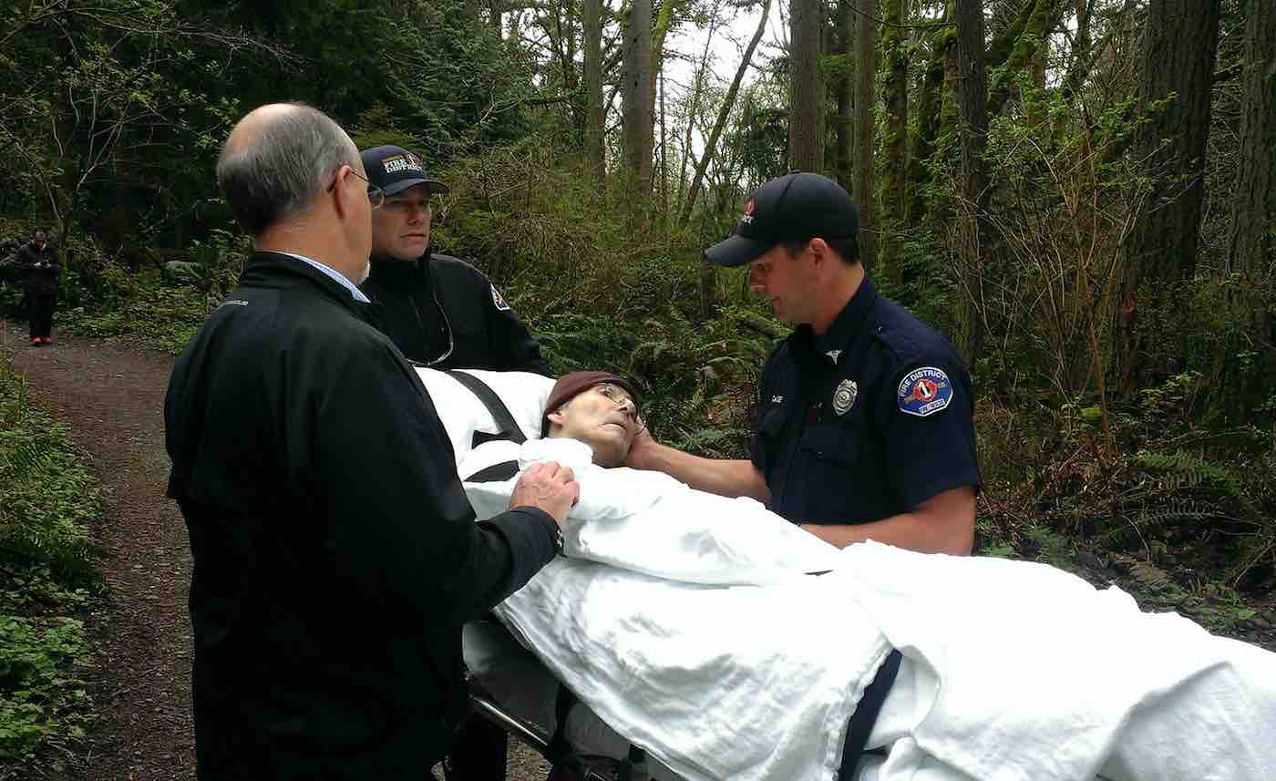 For 3 Hours, Firefighters Carry Park Ranger's Gurney Through a Forest So He Could Be in Nature One Last Time