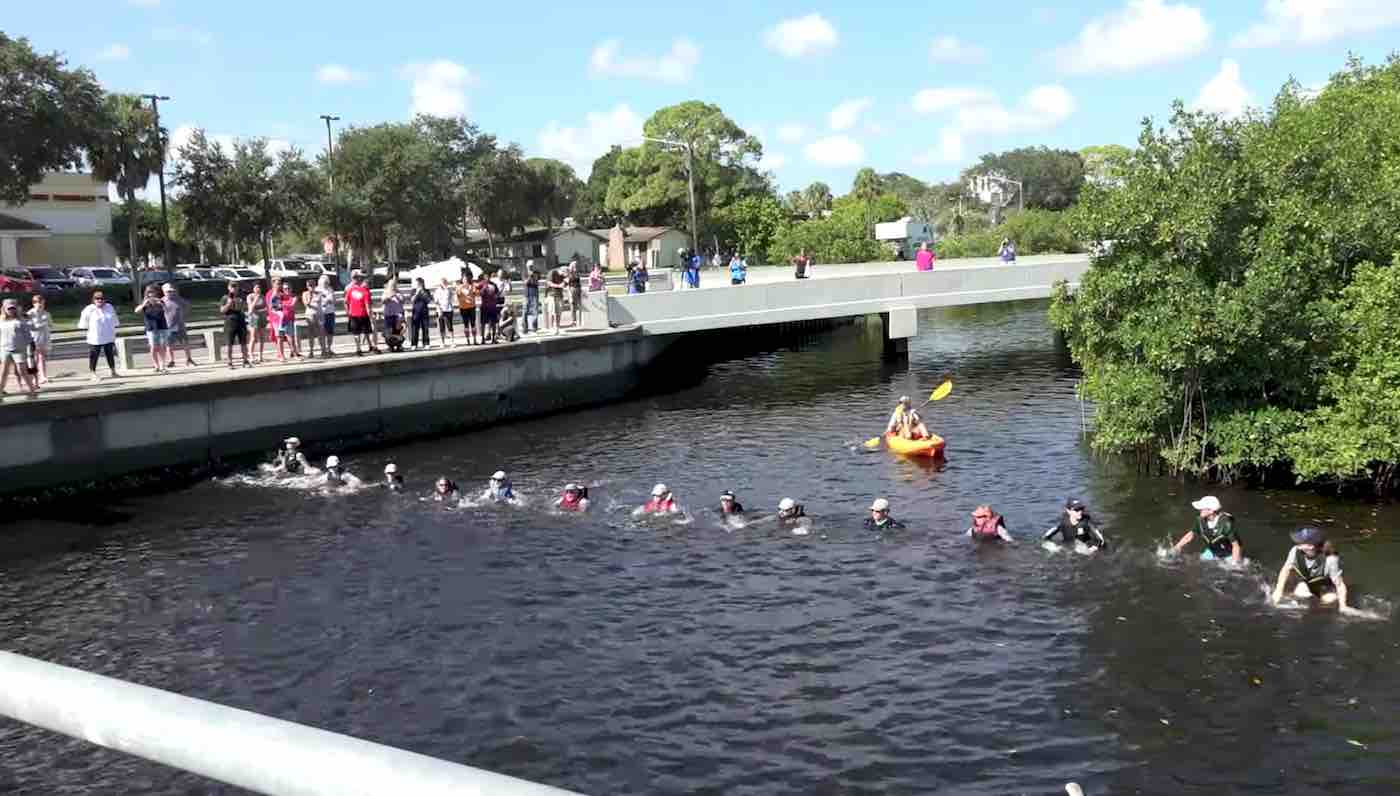 Watch Rescuers Form a Human Chain to Save Four Dolphins Trapped in Florida Canal