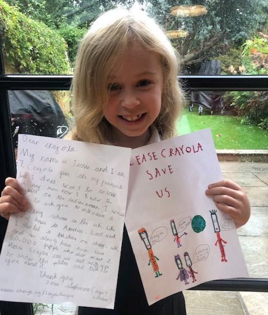 7-Year-Old Gathers 70K Signatures On Her Petition to Make Crayola's Coloring Pens Recyclable