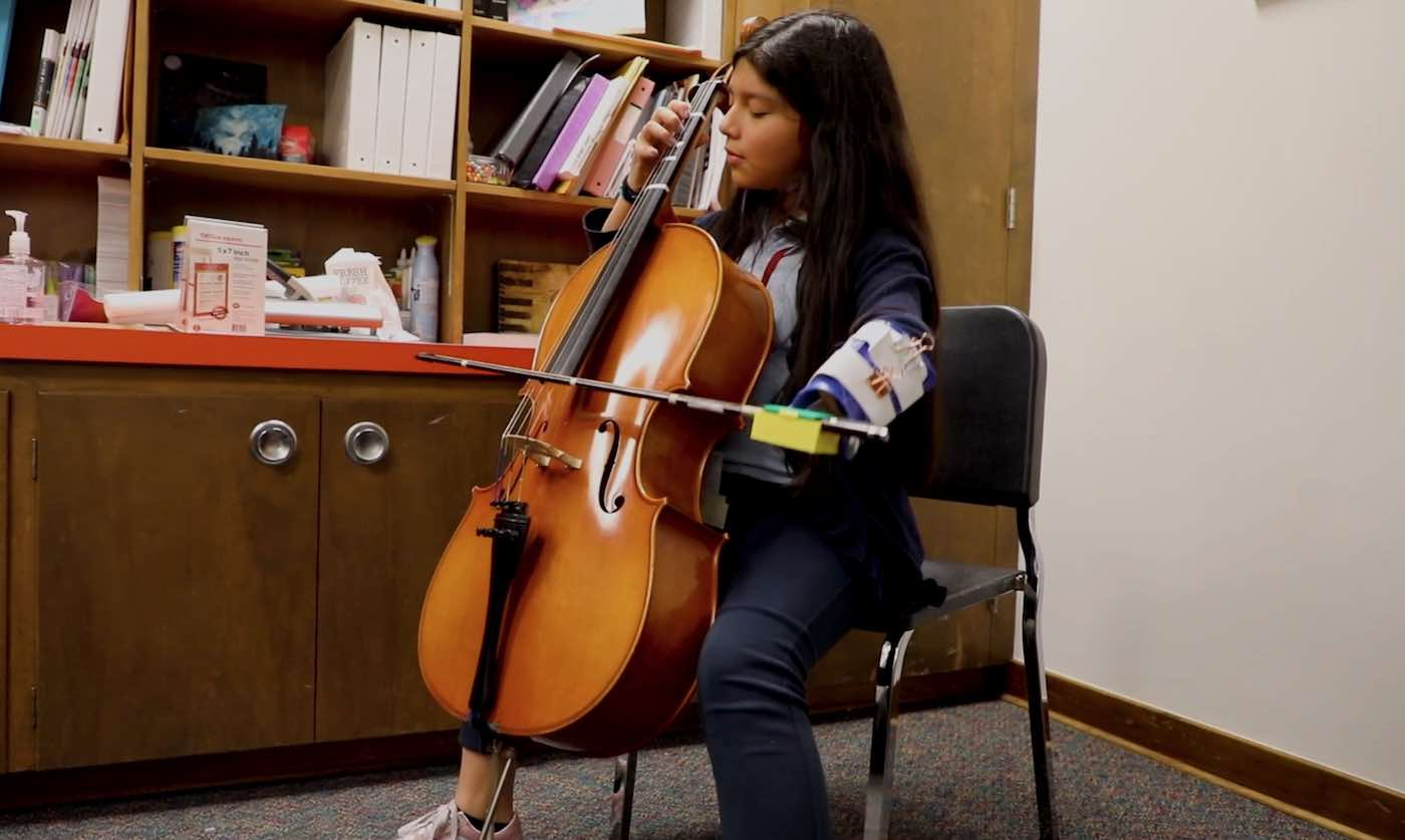 Disabled Student Can Pursue Her Dreams of Being a Cellist After Teens Build Her a Specialized Prosthetic