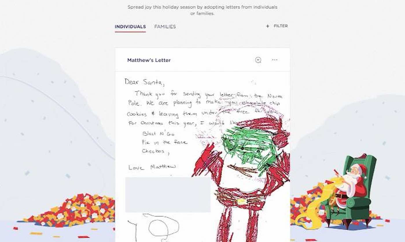 You Can Now Help Santa Deliver to Low-Income Kids By 'Adopting' Their Christmas Letters Through USPS