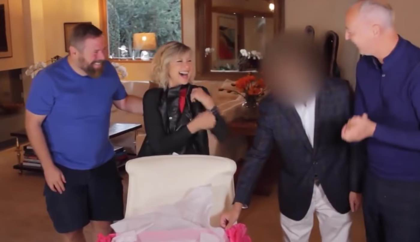 Olivia Newton-John and John Travolta recreate their Grease looks