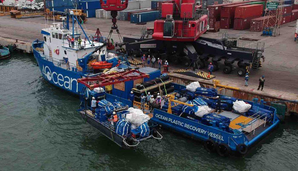4Ocean boat dubbed the Ocean PLastic Recovery Vessel