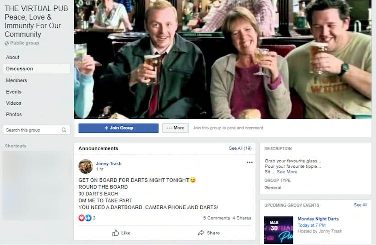 Virtual pub