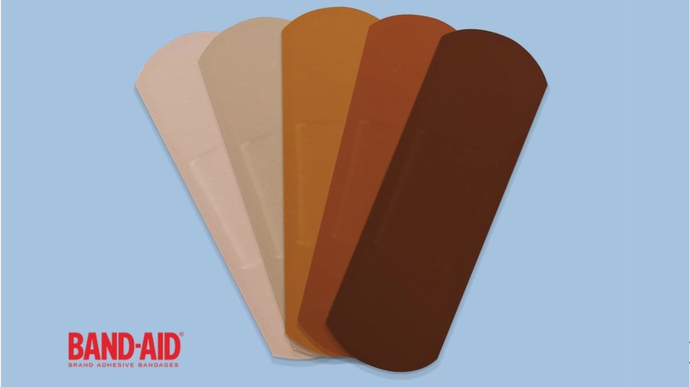 Band-Aid to make bandages in various skin tones