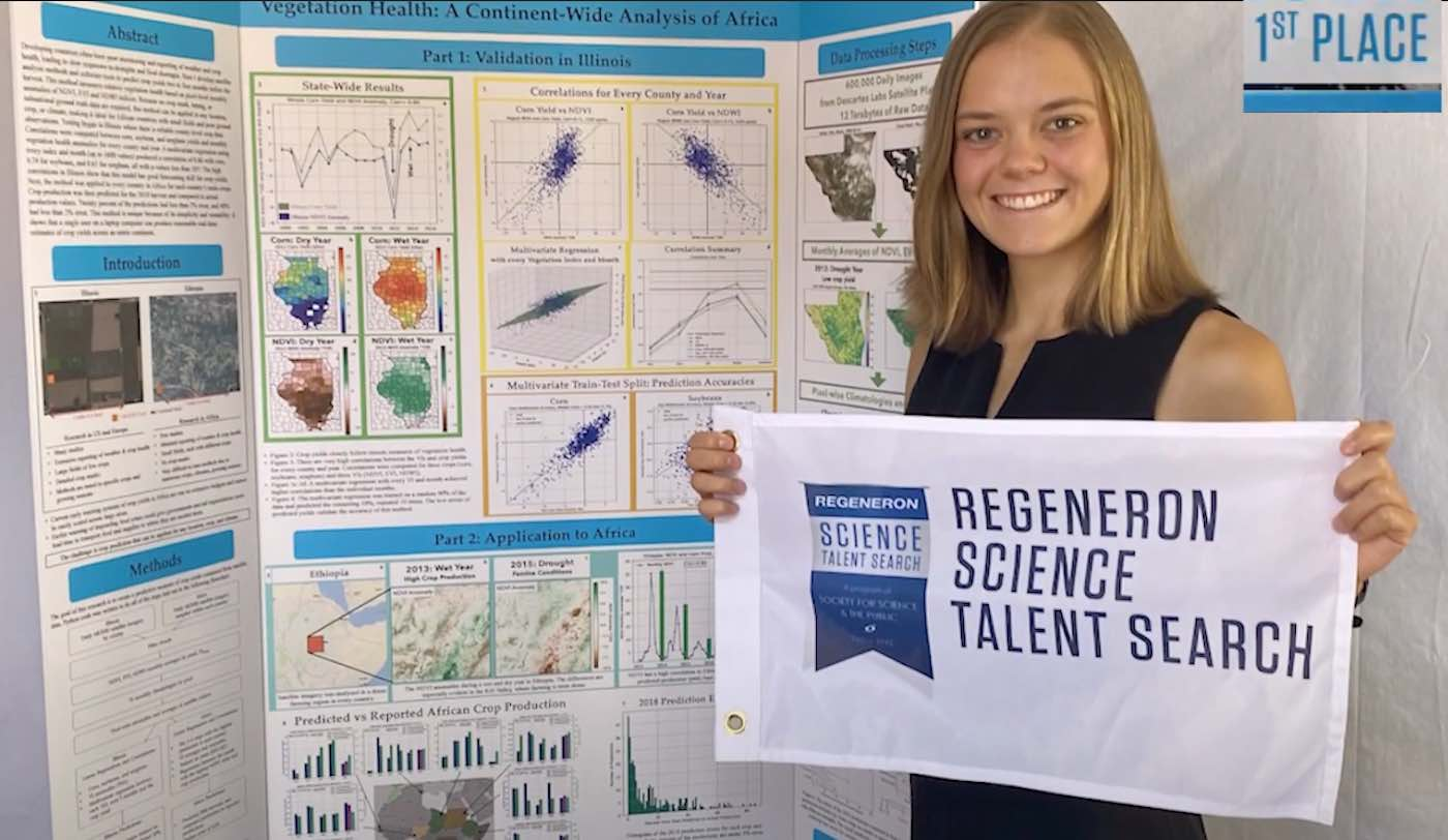 Regeneron Science Talent Search Lillian Kay Petersen winner 2020 released