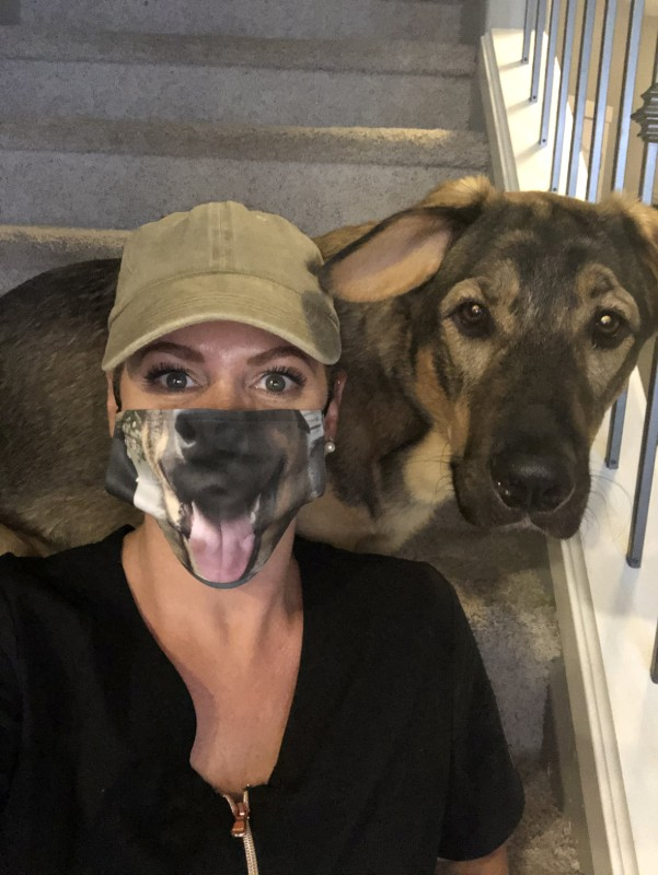 Dogs and Dorks face mask