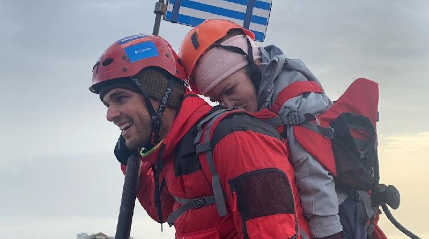 Greek Athlete Carries Disabled Woman Up Mount Olympus–Fulfilling her Lifelong Dream