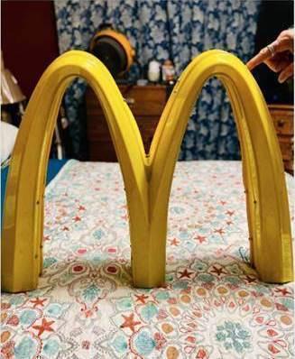 McDonald's golden arch signage