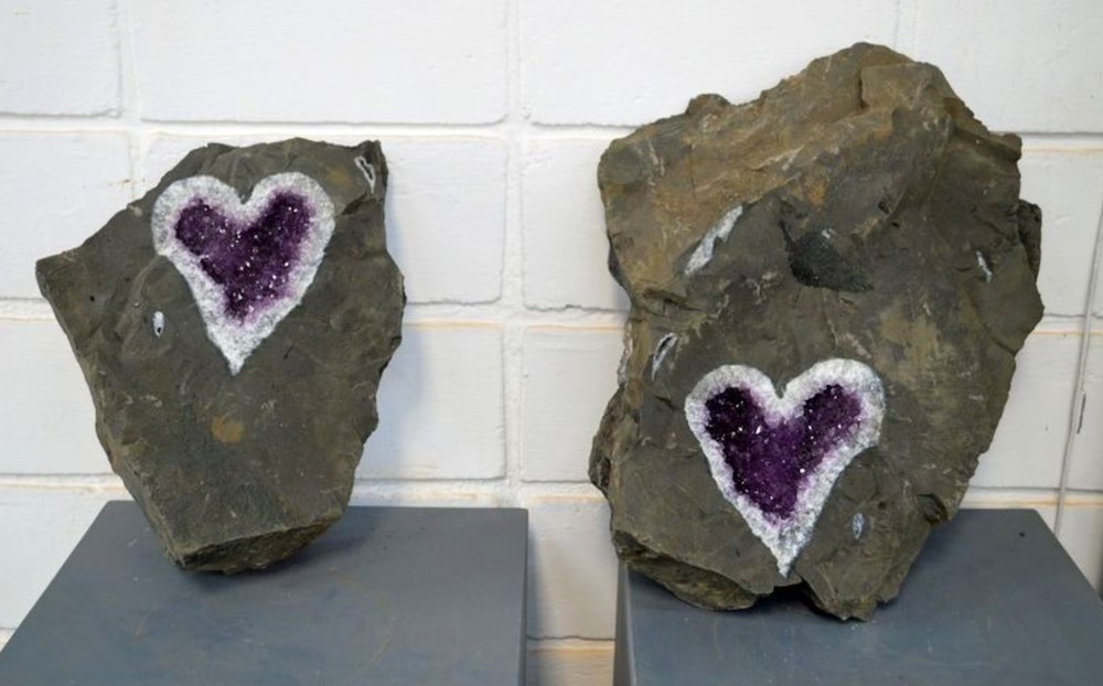 Stunning Heart-Shaped Amethyst Geode Discovered by Miners in Uruguay – And it's Now For Sale